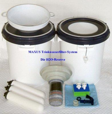 MAXUS Wasser-Filter-System Komplett