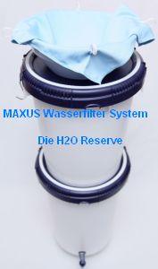MAXUS Trinkwasserfilter-System mit Trichter und Microvlies-Vorfilter