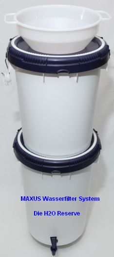 Maxus Wasserfilter Gesamtsystem komplett aufgestellt