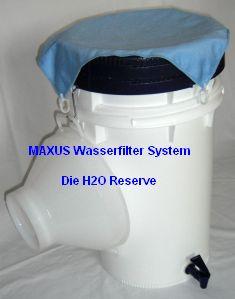 MAXUS Trinkwasserfilter-System Lagerung
